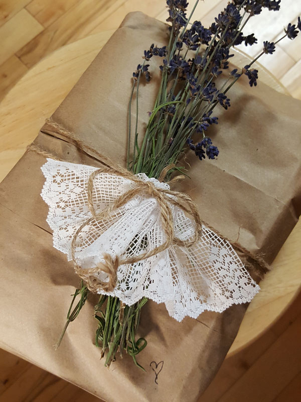 Paper Gift Wrap with Lavender