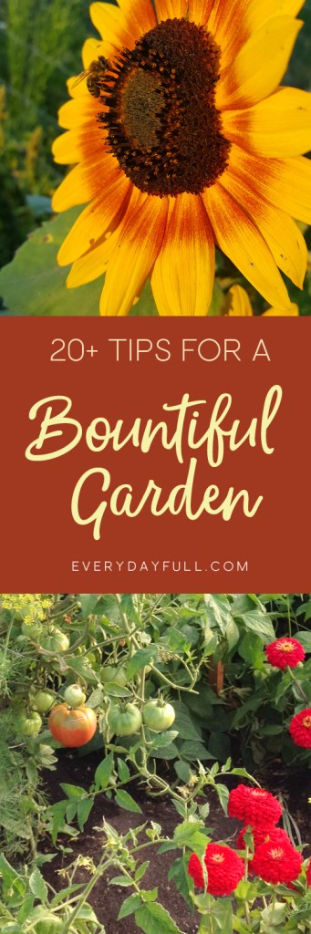 20 Tips for a Bountiful Garden Pinterest Pin