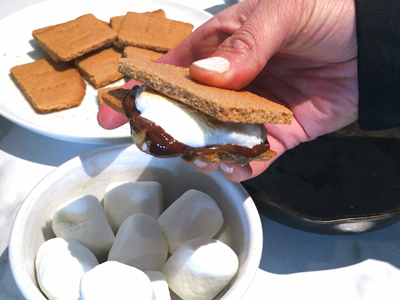 Ooey gooey perfection with this s'more!