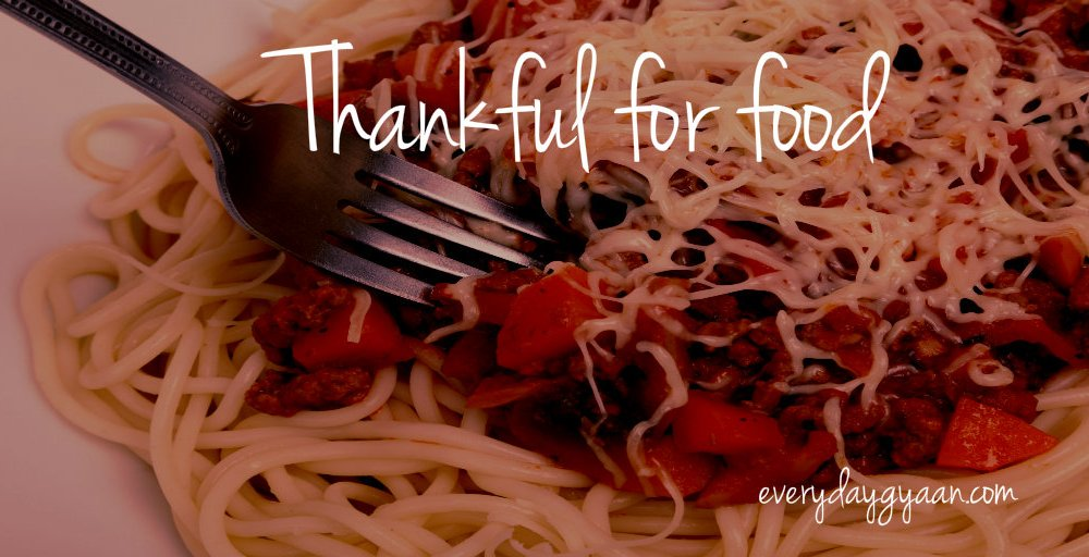 Thankful For Food