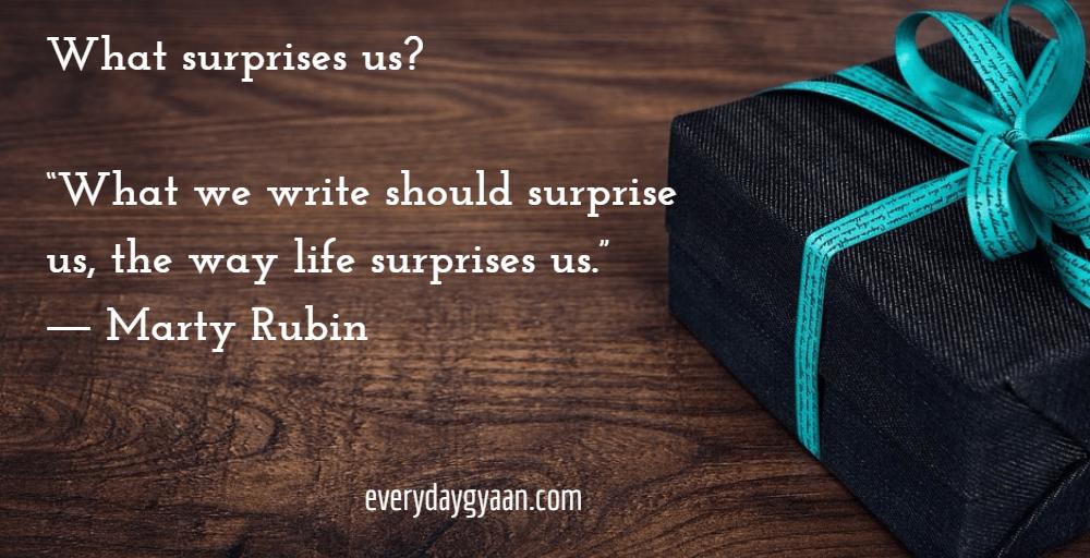What Surprises Us