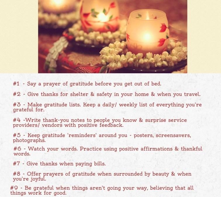 10 Gratitude Tips
