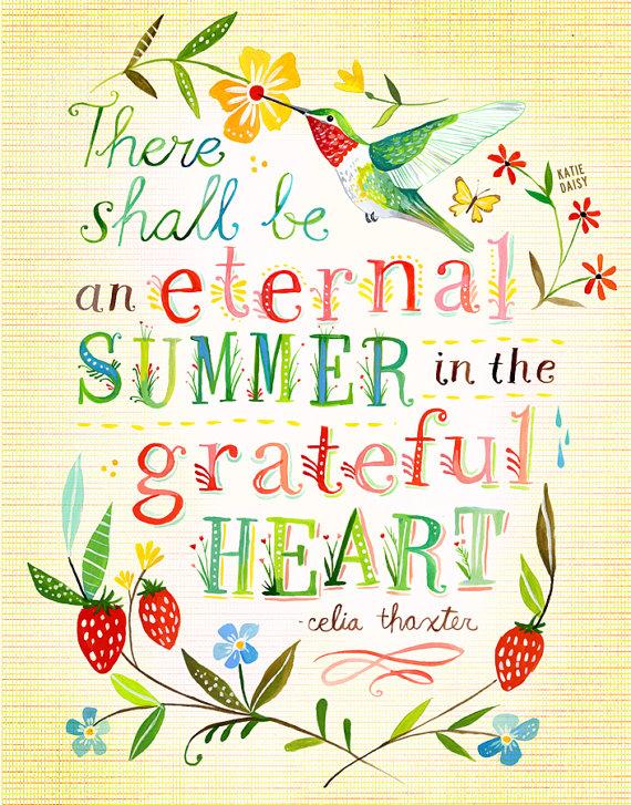 eternal summer in the grateful heart