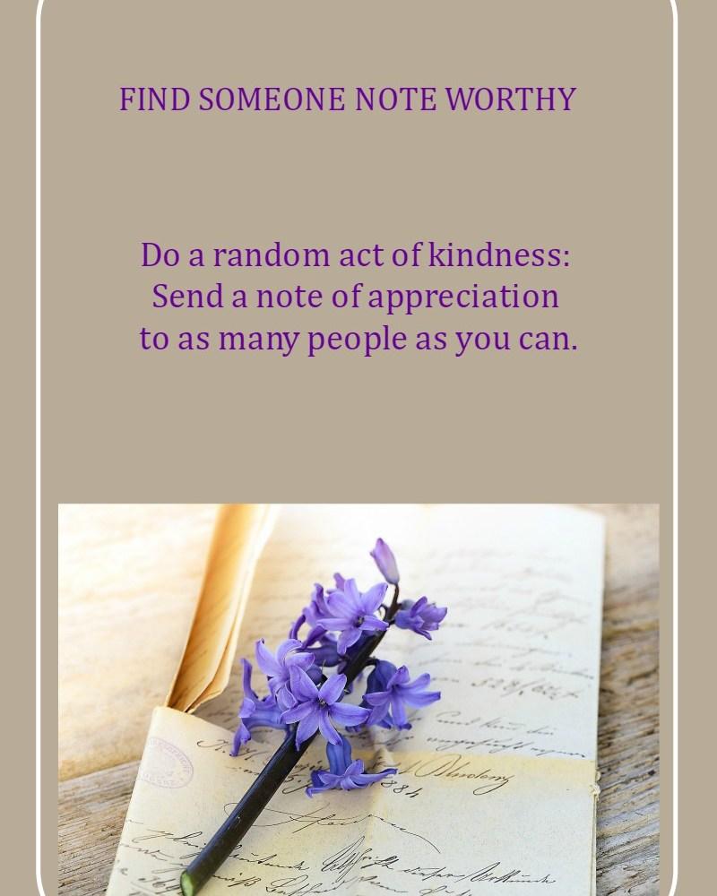 Find Someone Note Worthy