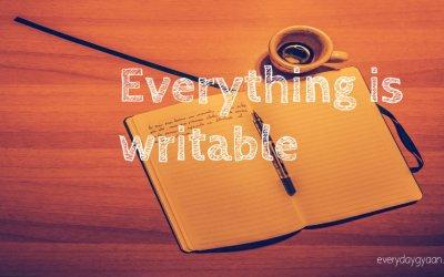 Everything Is Writable #WeekendCoffeeShare