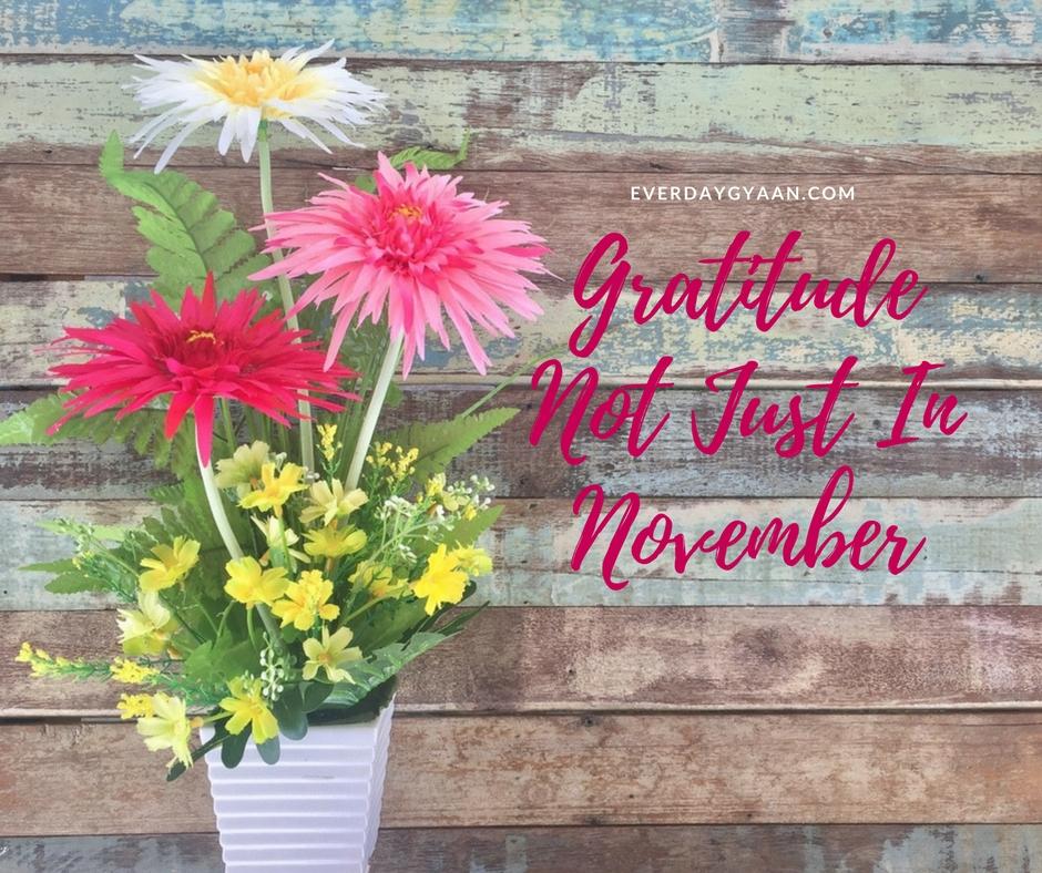 Gratitude Not Just In November #everydaygratitude