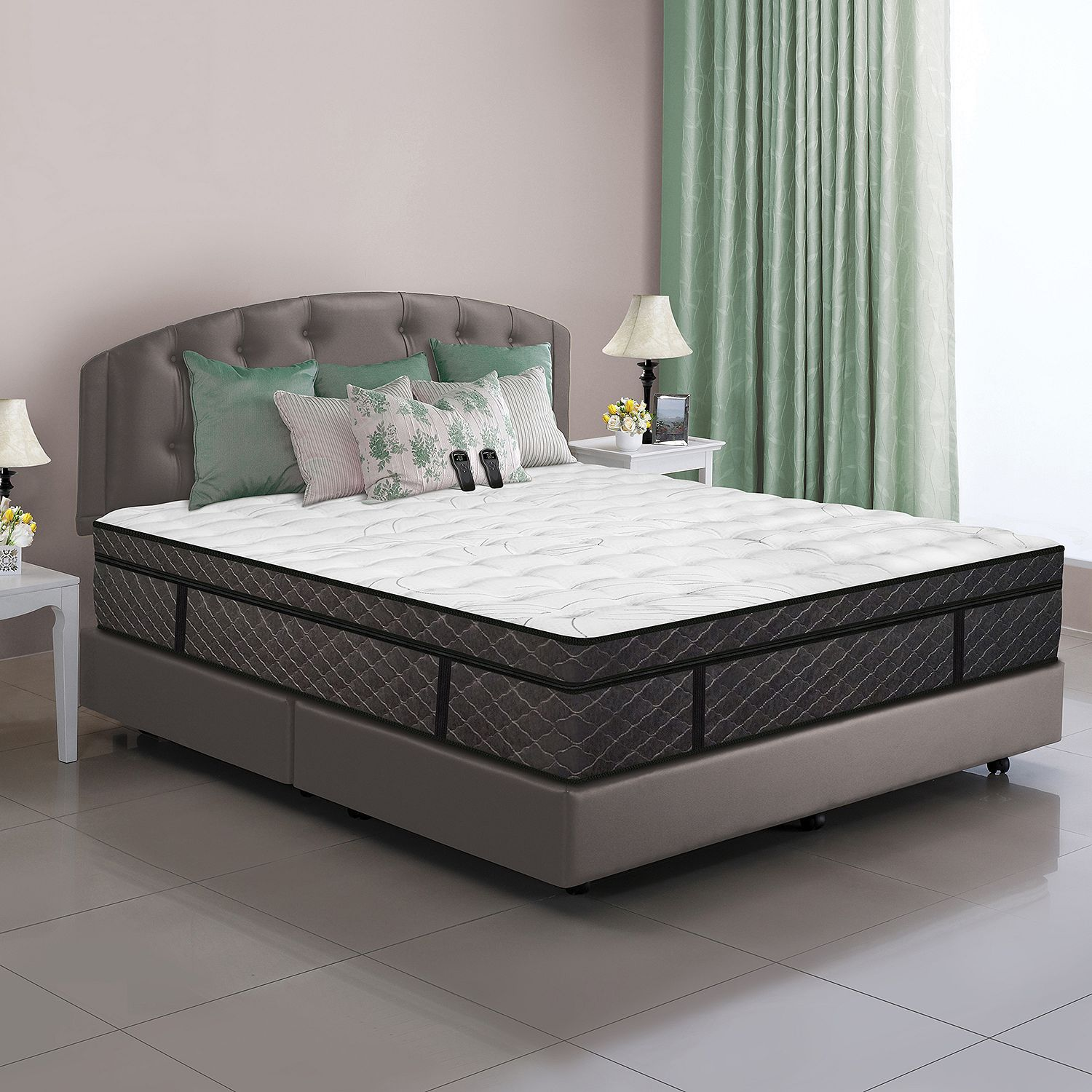 Simple Most of the mattress is made of foam but the highest level the one you sleep on has air cavities that proper you up