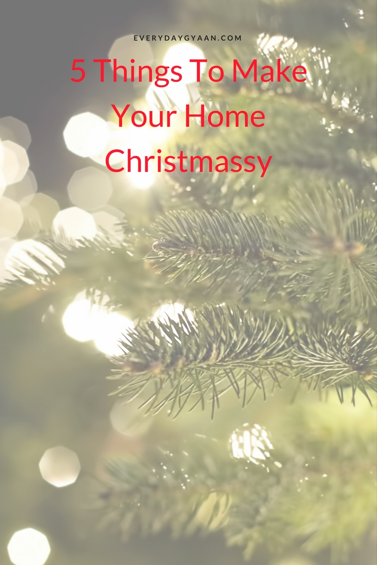 The holidays are approaching us quickly. I'm not sure about all of you but I know when it comes to the holiday season I personally love to go over the top and do everything I can to make it feel like Christmas! Today I am going to be sharing with you five of my favorite things to do around the house that will help add to that special Christmas feeling for the winter season.