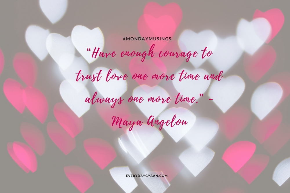 Trust Love One More Time #MondayMusings #MondayBlogs