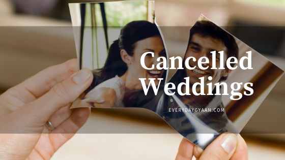 Cancelled Weddings! #MondayMusings