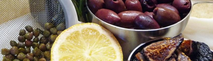 Fig, Black Olive &Walnut Tapenade Ingredients (c) jfhaugen