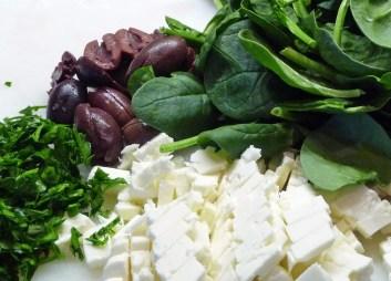 Spinach, Feta, Kalamatas, Parsley (c) jfhaugen
