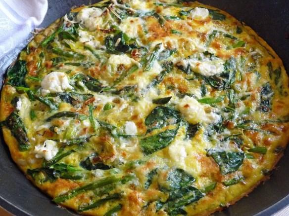 Asparagus, Leek & Spinach Frittata (c) jfhaugen