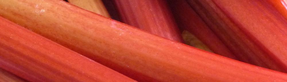 Crimson Stalks of Rhubarb