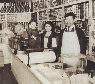 Grandma Mame, Grandpa Julius & My Mother in their L.A. Store, 1923