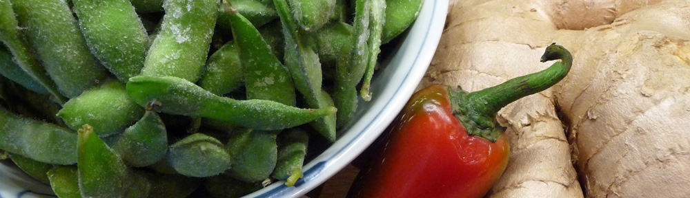 Stir-Fried Edamame w/ Garlic, Chili & Ginger