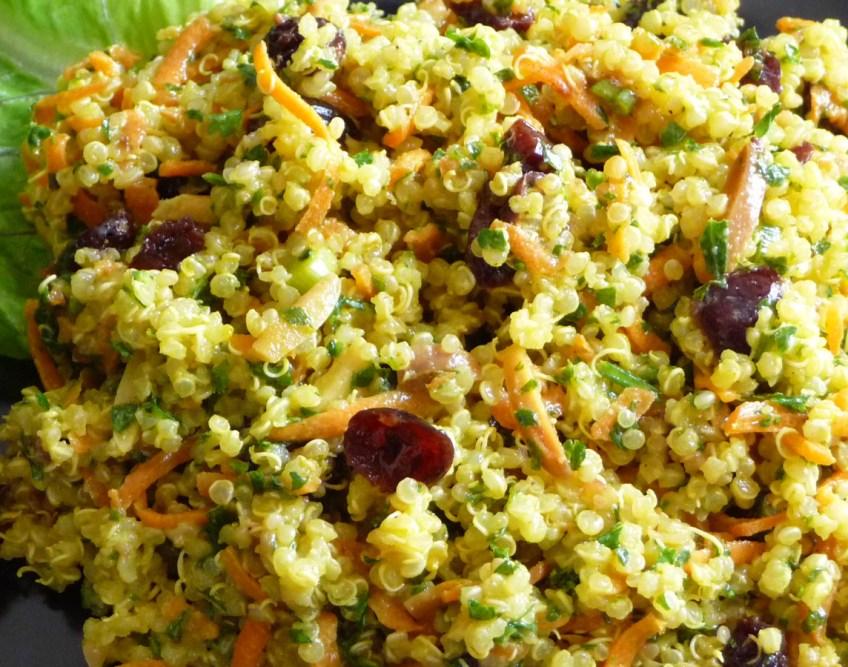 Curried Quinoa Salad w/ Dried Cranberries & Toasted Almonds (c) jfhaugen