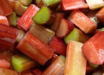 Rhubarb Tossed w/ Honey (c) jfhaugen