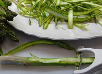 Asparagus Ribbon Salad w/ Almonds & Pecorino