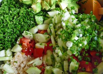 Tabouli Salad w/ Quinoa, Avocado & Feta