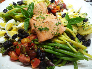 Salade Nicoise w/ Salmon—Summer On a Platter