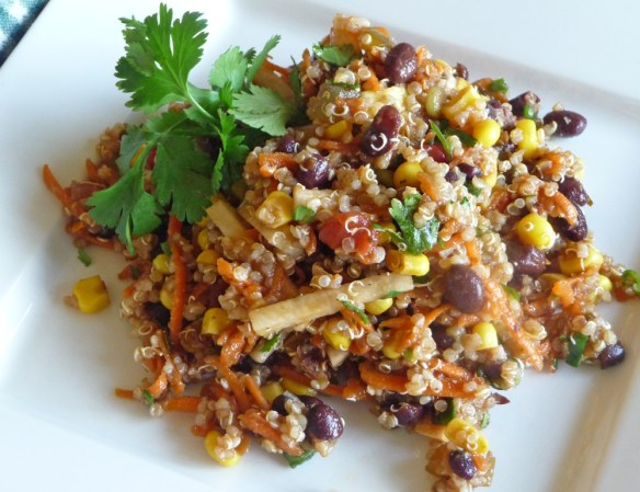 Black Bean Salad with Corn, Quinoa & Cilantro