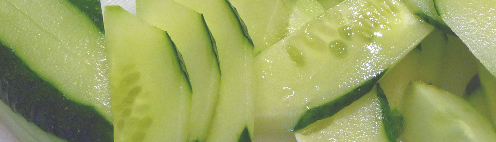 Cucumber Salad w/Ginger & Toasted Sesame Oil