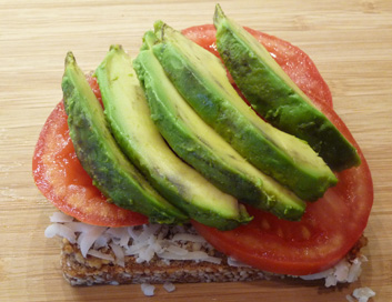 Grilled Cheese Sandwich w/ Tomato & Avocado