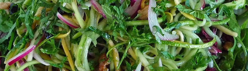 Summer Squash Agrodolce Salad