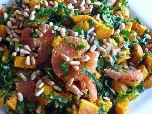 Tuscan Kale Kabocha Squash & Orange Salad