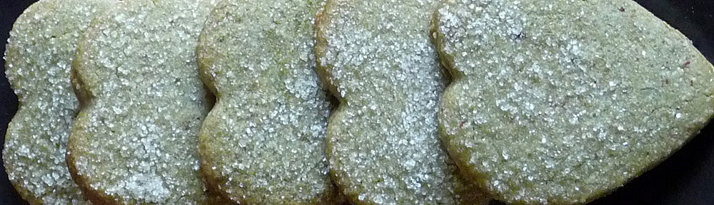 Matcha Almond Shortbread Hearts for Valentine's Day & Beyond