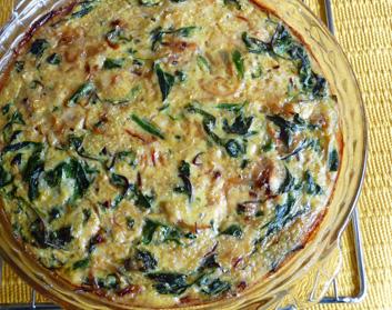 Crustless Quinoa Quiche with Greens