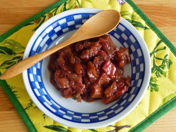 Rhubarb Ginger Chutney – Mild, Chunky, Savory, Sweet & Gingery