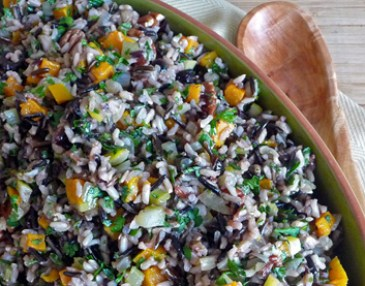 Wild Rice with Roasted Butternut Squash, Cranberries, Preserved Lemon
