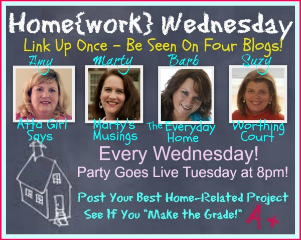 Home{work} Wednesday Linky Party at The Everyday Home