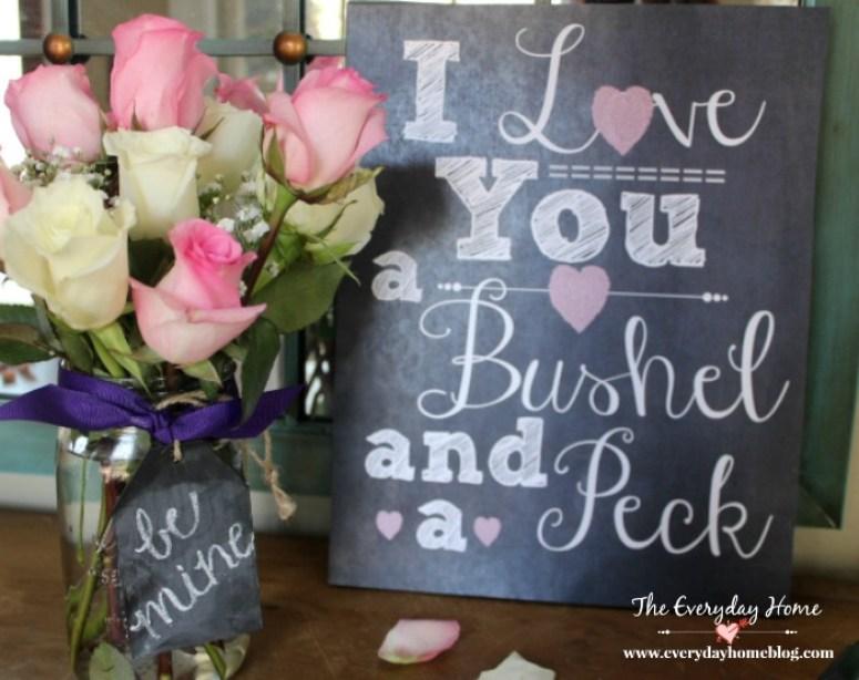 I Love You Printable | The Everyday Home | www.everydayhomeblog.com