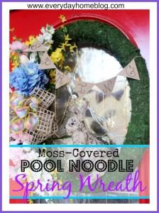Pool Noodle Spring Wreath