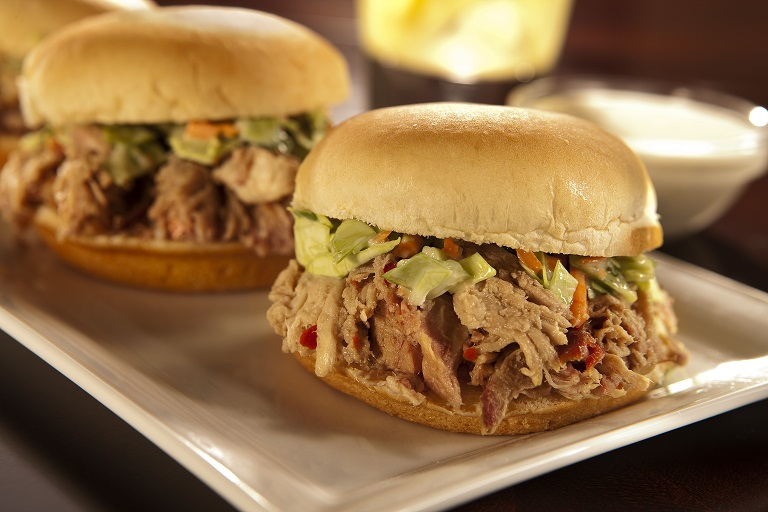 NC Pulled Pork BBQSandwiches by The Everyday Home
