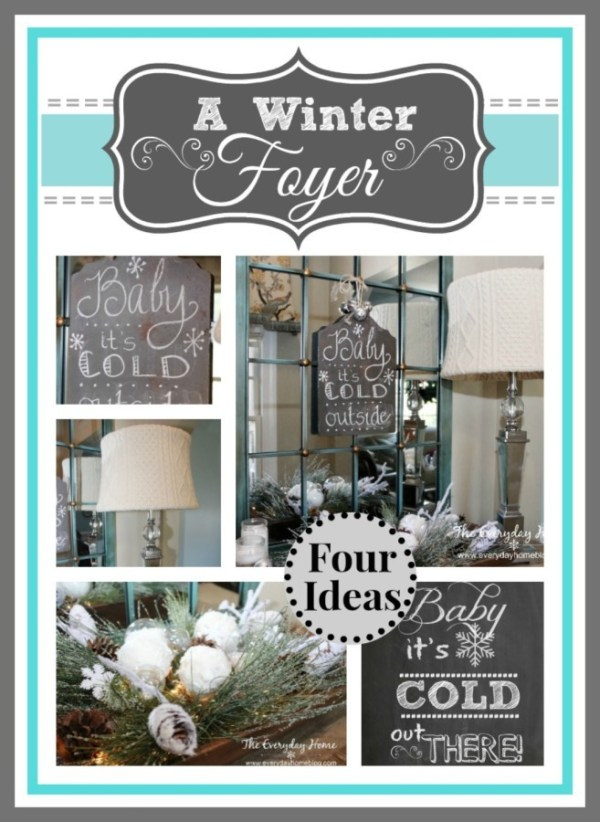 A Winter Foyer with Four Winter Projects by The Everyday Home #winter #crafts #DIY