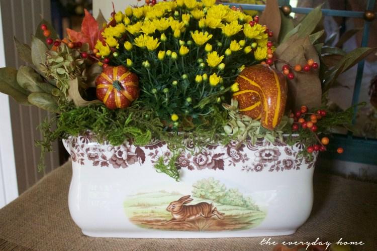 A Fall Spode Arrangement | A Fall Tour | The Everyday Home | www.everydayhomeblog.com