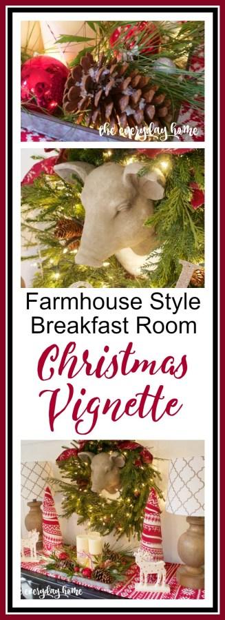 Farmhouse Christmas Vignette | The Everyday Home | www.everydayhomeblog.com