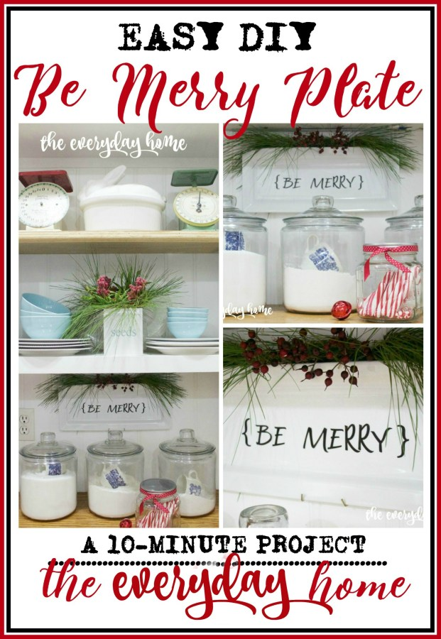 Be Merry Plate Project | The Everyday Home | www.everydayhomeblog.com