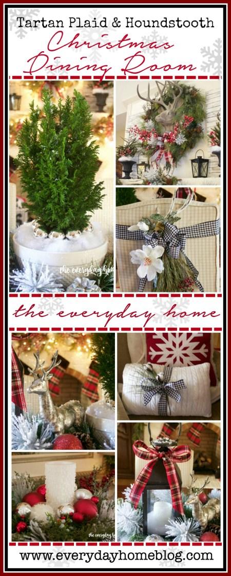 Tartan Plaid & Houndstooth Christmas Dining Room   2015 Christmas Tour   The Everyday Home   www.everydayhomeblog.com