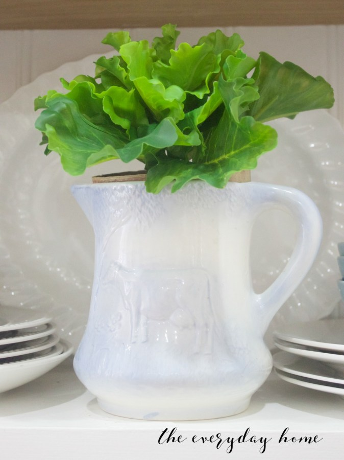 Spring Home Tour   Lettuce in Cow Pitcher   The Everyday Home