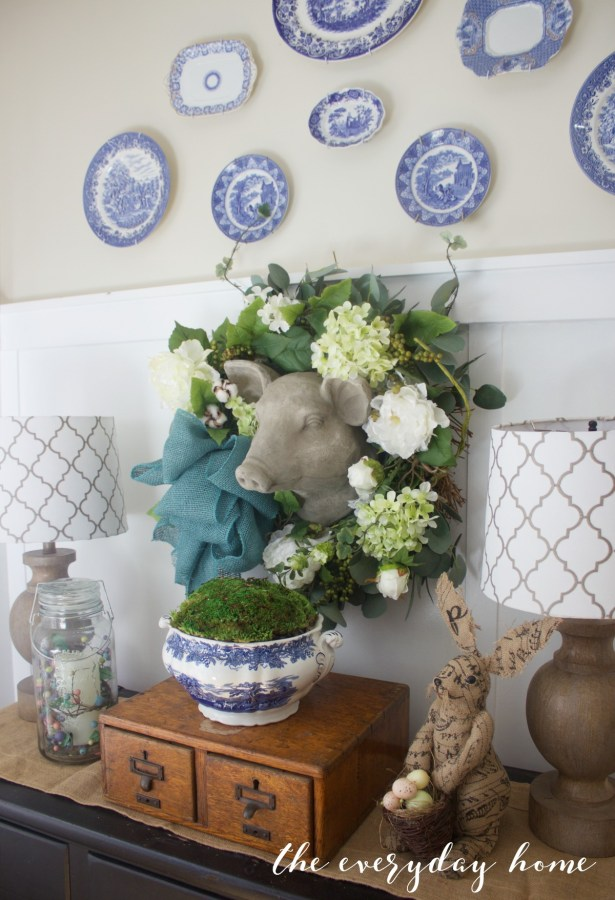 Spring Kitchen Tour   Plate Wall   The Everyday Home