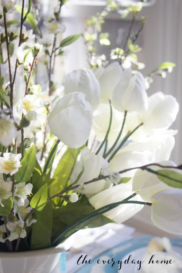 Spring Kitchen Tour   White Spring Tulips   The Everyday Home