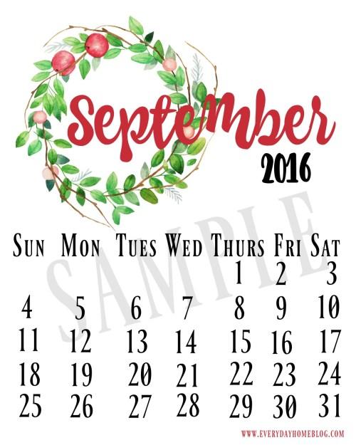 Sept 2016 Cal Sample