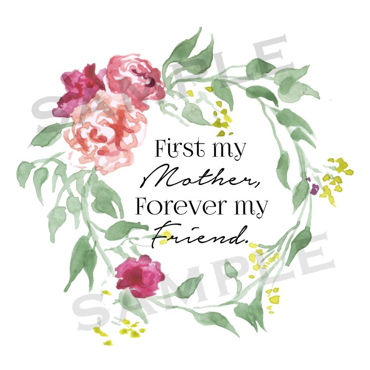 First My Mother Printable Sample