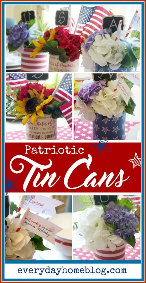 Patriotic Tin Can Craft | The Everyday Home
