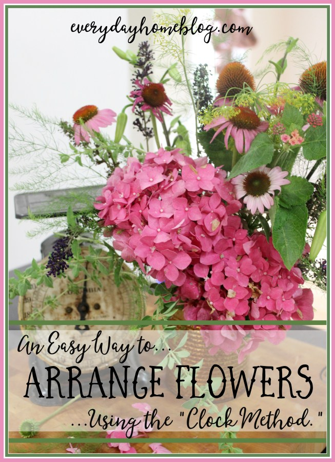 How to Arrange Flowers in a Vase   The Everyday Home   www.everydayhomeblog.com